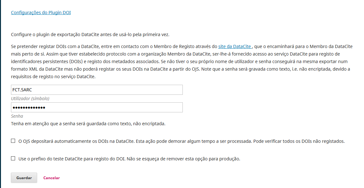 Username DataCite